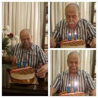 عکس جشن تولد 87 سالگی محمد علی کشاورز بازیگر قدیمی سینما و تلویزیون